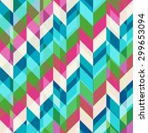 geometric abstract pattern with ... | Shutterstock .eps vector #299653094