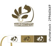 chicken emblem   logo for... | Shutterstock .eps vector #299660669