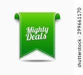 mighty deals green vector icon... | Shutterstock .eps vector #299661170