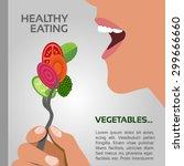healthy eating concept vector   ... | Shutterstock .eps vector #299666660