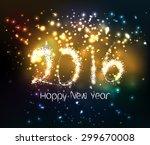 happy new year 2016 written...
