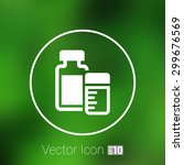 medication icon vector... | Shutterstock .eps vector #299676569