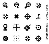 vector black target icon set | Shutterstock .eps vector #299677346