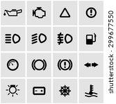 vector black car dashboard icon ... | Shutterstock .eps vector #299677550