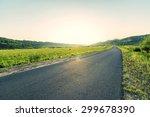 prairie road | Shutterstock . vector #299678390