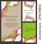romantic invitation. wedding ...   Shutterstock .eps vector #299678840
