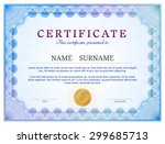 certificate template with... | Shutterstock .eps vector #299685713