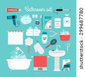 big set of objects from the... | Shutterstock .eps vector #299687780