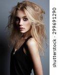 portrait of young beautiful... | Shutterstock . vector #299691290