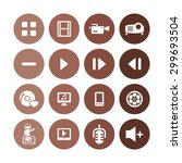 dj icons universal set for web... | Shutterstock .eps vector #299693504