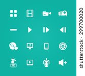 dj icons universal set for web... | Shutterstock .eps vector #299700020