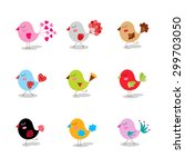colorful collection with cute... | Shutterstock .eps vector #299703050