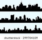 cityscape skyline set