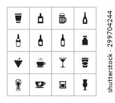 drinks icons universal set for... | Shutterstock .eps vector #299704244