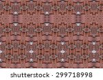 carved wood wall close | Shutterstock . vector #299718998