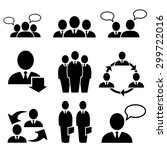 business people icons vector | Shutterstock .eps vector #299722016