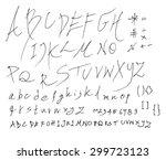 hand drawn alphabet letters   Shutterstock .eps vector #299723123