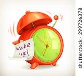 wake up  alarm clock vector icon | Shutterstock .eps vector #299726378