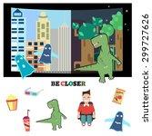 color illustration of cinema   Shutterstock .eps vector #299727626