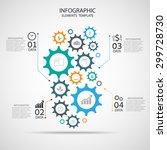 vector template infographic ...   Shutterstock .eps vector #299728730
