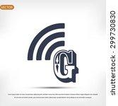 letter g  icon  | Shutterstock .eps vector #299730830