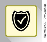 shield sign icons  vector... | Shutterstock .eps vector #299733530