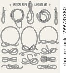 set of nautical rope design... | Shutterstock .eps vector #299739380