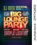 typography disco background.... | Shutterstock .eps vector #299742803