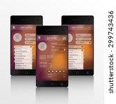 vector illustration of screens...