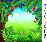 Tropical Jungle With Animals...