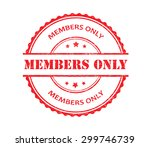 members only rubber stamp... | Shutterstock .eps vector #299746739