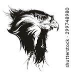 falcon   Shutterstock .eps vector #299748980