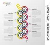 timeline infographics template. ... | Shutterstock .eps vector #299750294