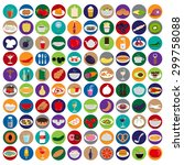 3d Flat Food Icons Set  Vector...