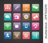 communication icons universal... | Shutterstock . vector #299763290