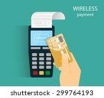 illustration of wireless mobile ... | Shutterstock .eps vector #299764193