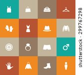 clothes icons universal set for ... | Shutterstock . vector #299767298