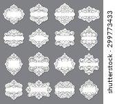blank frame and label set | Shutterstock .eps vector #299773433