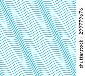 blue wave diagonal pattern | Shutterstock .eps vector #299779676