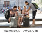 young italian travelers are... | Shutterstock . vector #299787248