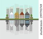 modern green city  think green... | Shutterstock .eps vector #299793749