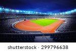 Athletics Stadium With Track...