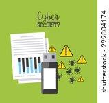 cyber security design  vector... | Shutterstock .eps vector #299804174