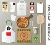 vector pizzeria corporate... | Shutterstock .eps vector #299804669