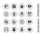couple  love icons universal... | Shutterstock . vector #299821604