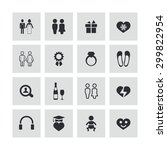 couple  love icons universal... | Shutterstock . vector #299822954