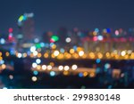 abstract blurred bokeh lights... | Shutterstock . vector #299830148