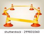 illustration of set of orange... | Shutterstock .eps vector #299831060
