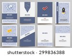 set of brochure design... | Shutterstock .eps vector #299836388