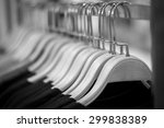 wooden clothes hangers with... | Shutterstock . vector #299838389